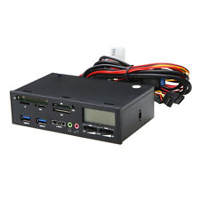 "5.25"" USB 3.0 e-SATA All-in-1 PC Media Dashboard Multi-function Front Panel N8F2"