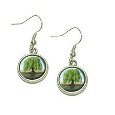 Old Weeping Willow Tree Dangling Drop Charm Earrings