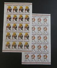TIMBRES NIGER** 1982 - Série Norman Rockwell en 3 feuilles de 20T. (A537)