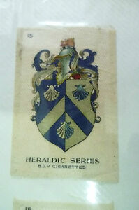 B.D.V. Cigarettes Silk- HERALDIC SERIES, No.15 (Org*, apx. 7x4.5 cm)