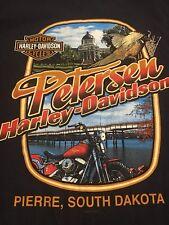 Harley Davidson Motorcycle 2011 Petersen Pierre South Dakota Mens T Shirt Medium