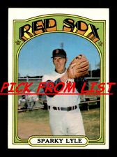 1972 Topps 257-525 EX/EX-MT Pick From List All PICTURED
