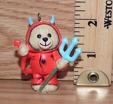 Unbranded Red Devil Teddy Bear Christmas Tree Ornament Only **READ**