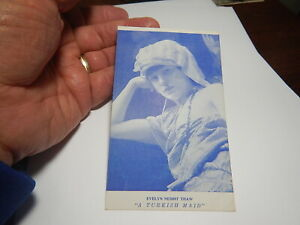 "RARE ""EVELYN NESBIT THAW 'THE ARTISTS' MODEL'"" PHOTO POSTCARD Turkish Maid"
