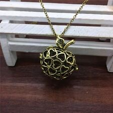 Bronze Perfume Fragrance Essential Aromatherapy Diffuser Apple Necklace XB145