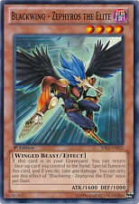 3x Yugioh SDLI-EN022 Blackwing - Zephyros the Elite Common Card