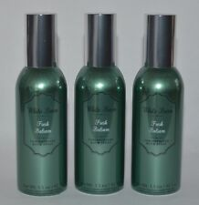 3 BATH BODY WORKS FRESH BALSAM CONCENTRATED ROOM SPRAY PERFUME MIST GREEN SHINY
