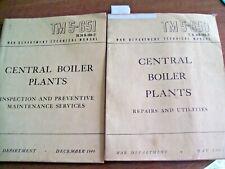 2 Vintage War Depart. Tech. Manual Tm5-65O And Tm5-651 Utilities Boiler Plants