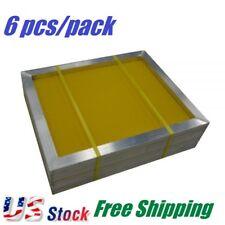 "6 pcs Aluminum Silk Screen Printing Screens 23"" x 31"" Frame, 230 Yellow Mesh"