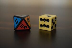 Scene It? Pirates of the Caribbean Replacement Parts Dice 6 Sided & 8 Sided Die