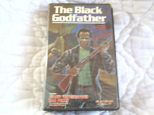 THE BLACK GODFATHER VHS MAGNUM CLAMSHELL 70'S BLAXPLOITATION ROD PERRY MAFIA