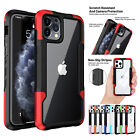 For iPhone 11 12 Pro Max XS XR 8 7 SE2 Hybrid Shockproof Bumper Clear Case Cover