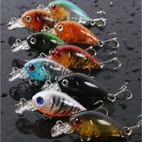 9pcs/Lot Bass CrankBait Crank Bait Tackle Plastic Fishing Lures 4.5cm/4g LN