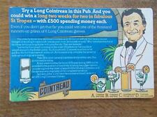 Vtg BEER MAT Advertising COINTREAU c1985 with advert for St Tropez Holiday