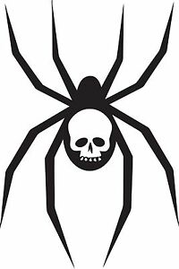 Skull / Spider Sticker 150 x 100 great stickers made from Marine grade material.