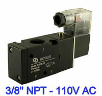 Pneumatic 3 Way Electric Directional Control Air Solenoid Valve 110V AC 3/8 Inch
