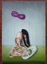 Carte postale Peinture Pieter Jansen,ballerines, masque , postcard