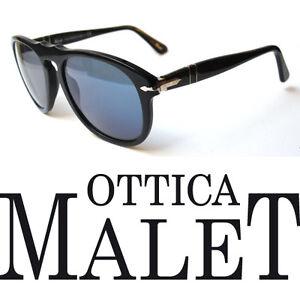 Persol 649 54 Black Blue Lenses Sunglasses Black Customized
