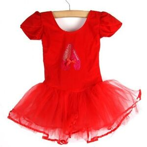 Girl Pink Blue Sequin Dancing Shoes Leotard Ballet Tutu Dress Dance Ballerina