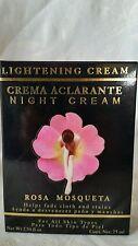 Rosehip Oil, Night Cream 2.5 fl oz/Crema Aclaradora de Noche/Rosa Mosqueta 75ml