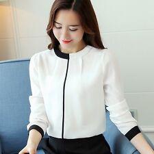 Autumn Women Elegant Long Sleeve Casual Chiffon Blouse Slim Career OL Shirt Tops