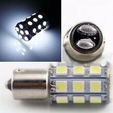 #1157 27-SMD White LED Tail Light Brake Stop Turn Signal Lamp 12 Volt Bulbs Pair