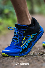 NEW Brooks Caldera Trail Shoes Blue/Volt 1102421D445 Mens Size 9 Running
