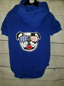 American Bully Blue Flex-Fit Dog Hoodie XX-LARGE