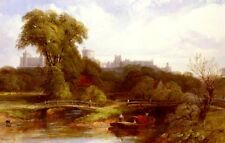 """perfect 36x24 oil painting handpainted on canvas """"Windsor Castle """" NO8908"""