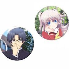 Charlotte Anime Manga Cosplay Badge Pin Button Brooch Gift Set Rare Licensed Nee
