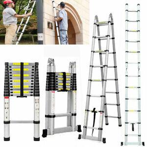 2m/3.2m/5m Ladder Aluminum Alloy Multi-Purpose Climb Telescopic Extendable Step