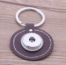 Handmade DIY Keychain leather chunk snap button fit 18mm nosa  j4703