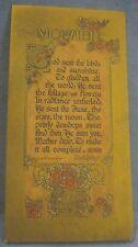 Antique Exquisite Buzza Motto Card 1925 Bronze Color Mother Poem To Frame