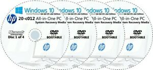 HP All-in-One -  20-c012 Factory Recovery Media 4-Discs Set / Windows 10 64bit