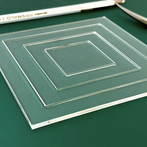 Square Patchwork Templates, Laser Cut Acrylic Ruler | Quilting Guide | Sewing
