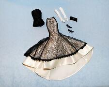 Black & Cream Mermaid Style Skirt Set w/ Gloves, Purse, Shoes Genuine BARBIE