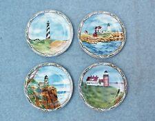 "American Atelier Signals 5100 Lighthouse Plates 8"" Set 4 Hatteras Neddick Quoddy"