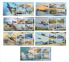 2012 AVIATION ART WWII 14 SOUVENIR SHEETS MNH UNPERFORATED  jet fighter PART2