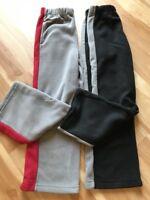 New Boy Thick Fleece Warm Elastic waist pants Gray Black Relax fit sz 8 10 12 14