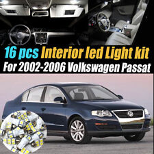 16Pc Super White Interior LED Light Bulb Kit Package for 2002-2006 VW Passat