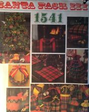 FF Uncut Vogue 1541 Sewing Pattern Santa Pack 3 Xmas Pillow Log Carrier Hassock