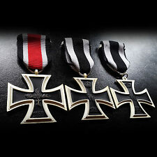 3x German Medals Crosses 2nd Class Antique Military Medals Set WW1 WW2 Repro