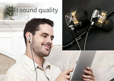 Dual Dynamic Driver Earphone In-Ear HIFI Stereo Sound 18K Gold Plating Crystal