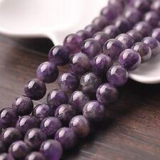 10pcs 12mm Natural Amethyst Stone Gemstone Loose Spacer Beads