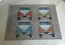 VW Quad Campervan Metal Wall Sign- Iconic Classic Retro Vintage Landscape Style