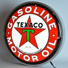 "Texaco Motor Oil Backlit Led Neon Light Sign 15""x15"""
