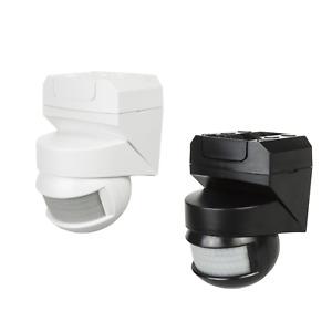 Détecteur de mouvement infrarouge intérieur extérieur Noir Blanc