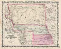 1862/63 Johnson's Nebraska, Dakota, Colorado & Kansas