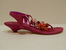 HAROLD'S Shoes Women's Pink Beaded Thong Sandals Size 7 Made in India