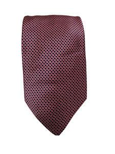 Silk Tie ITALO FERRETTI as made for Brioni, Pink  pattern
